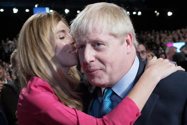 Mr Johnson is now with Carrie Symonds (Picture: Stefan Rousseau/POOL/AFP)