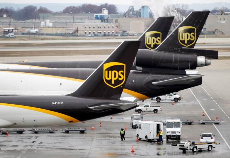 FILE PHOTO - UPS aircraft at the UPS Worldport All Points International Hub in Louisville