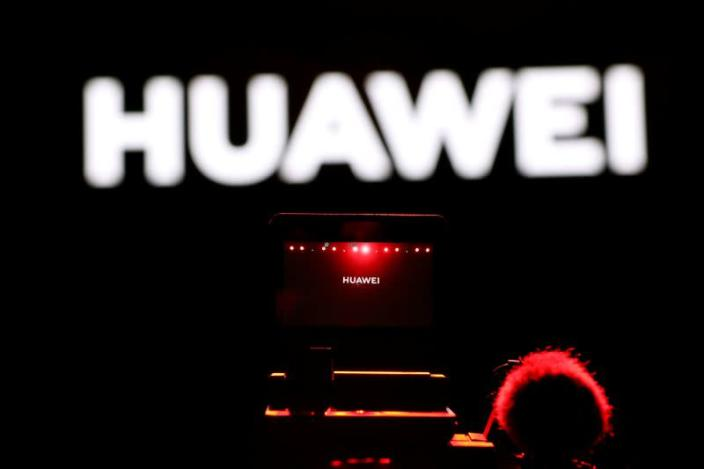 FILE PHOTO: Cameraman records during Huawei stream product launch event in Barcelona