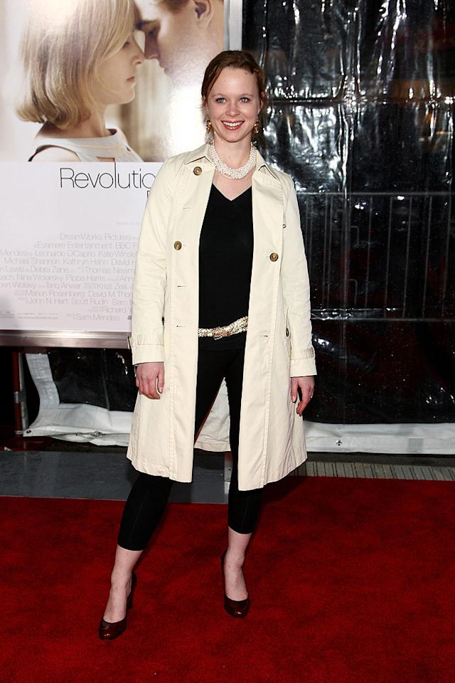 """<a href=""""http://movies.yahoo.com/movie/contributor/1800018629"""">Thora Birch</a> at the Los Angeles premiere of <a href=""""http://movies.yahoo.com/movie/1809883886/info"""">Revolutionary Road</a> - 12/15/2008"""