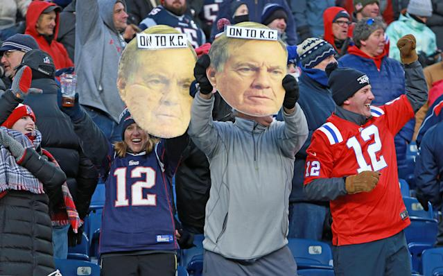 Bill Belichick and the Patriots are on to their eighth straight AFC championship game, an accomplishment Bill Belichick has no interest in talking about. (Getty Images)