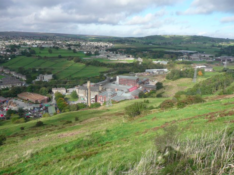 The mystery humming has reportely been heard by residents of Holmfield, Halifax, for a year. (Geograph/Humphrey Bolton/Creative Commons)