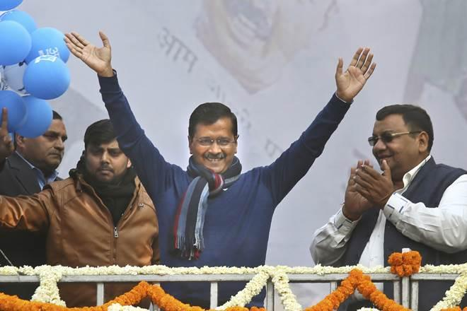 Despite both the home minister and the prime minister indulging in ugly religious polarisation, Kejriwal trounced both parties. (AP Photo)