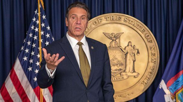 PHOTO: Andrew Cuomo, governor of New York, speaks during a news conference in New York, Oct. 5, 2020. (Bloomberg via Getty Images, FILE)