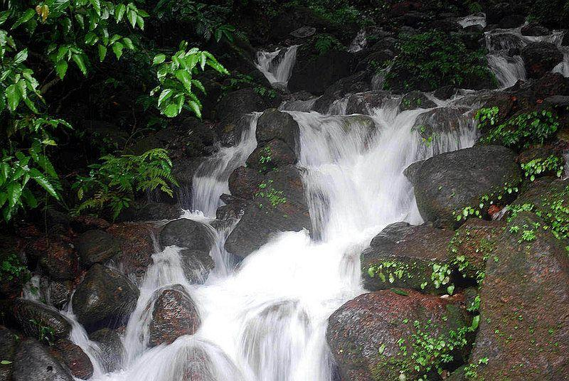 A small waterfall near the mouth of Tunnel-3, Braganza Ghats.