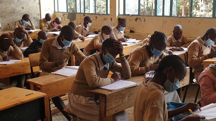 Pupils in a class in Nairobi