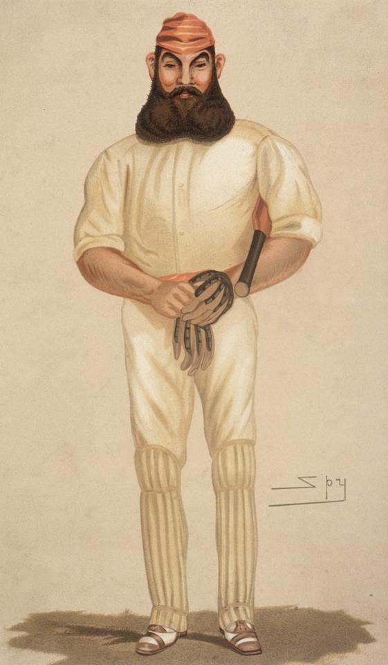 9th June 1898:  Legendary English cricketer William Gilbert Grace (1848 - 1915).  A Spy (Lesley Ward) cartoon fron Vanity Fair - pub. 1898  (Photo by Hulton Archive/Getty Images)