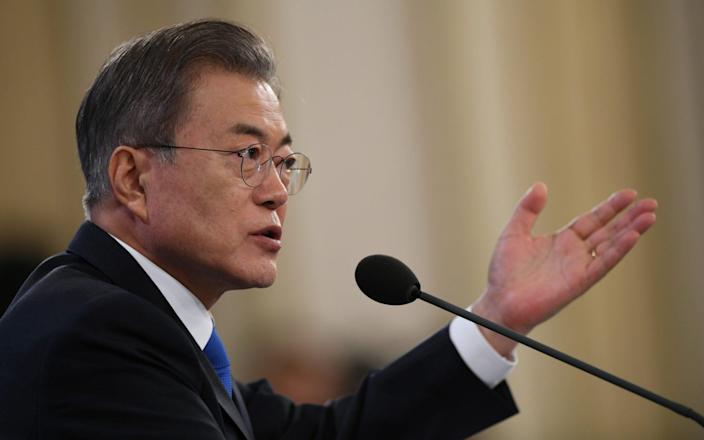 Moon Jae-In will serve out the final year of his term as president as a lame duck