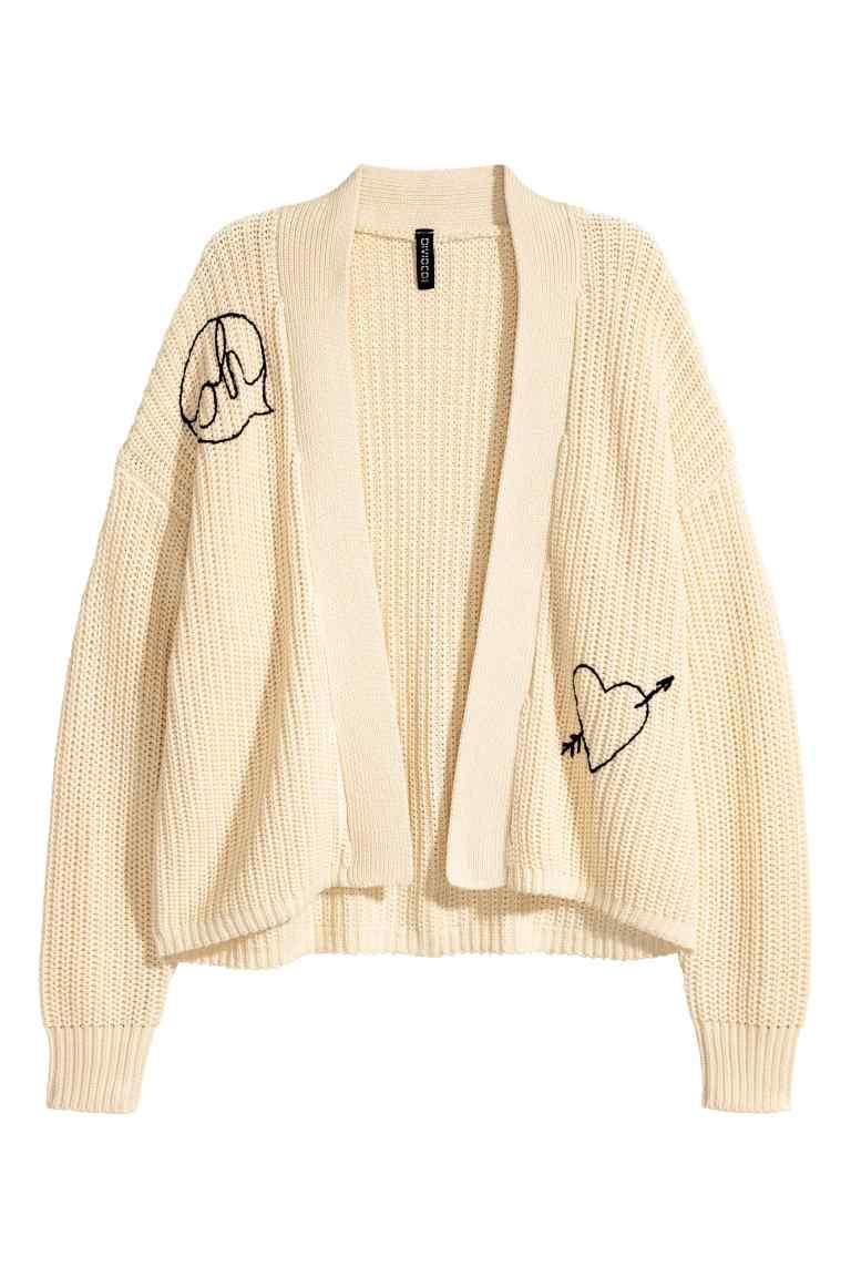 """<p>H&M has always come out strong in the knitwear stakes. So look no further than the Swedish retail giant for the best cardies of the season. <em><a rel=""""nofollow noopener"""" href=""""http://www2.hm.com/en_gb/productpage.0531829001.html"""" target=""""_blank"""" data-ylk=""""slk:H&M"""" class=""""link rapid-noclick-resp"""">H&M</a>, £19.99</em> </p>"""