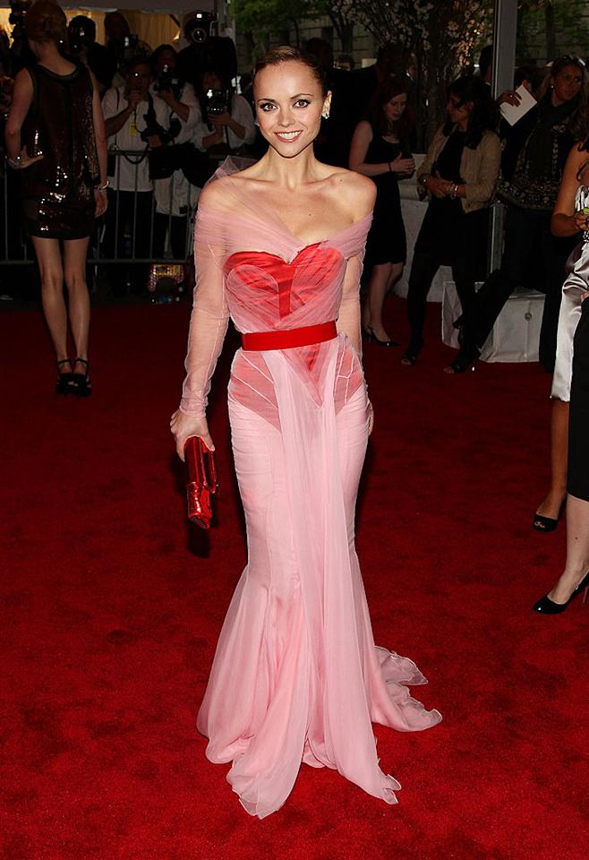 """One of the belles of the ball was undoubtedly the darling Christina Ricci. The star of the upcoming """"Speed Racer"""" slipped into a corseted Givenchy haute couture gown designed by Riccardo Tisci. Stephen Lovekin/<a href=""""http://www.gettyimages.com/"""" target=""""new"""">GettyImages.com</a> - May 5, 2008"""