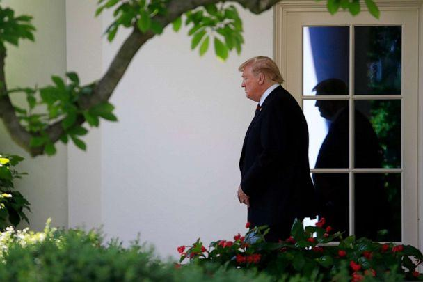 PHOTO: President Donald Trump walks from the Oval Office as he leaves White House, Thursday, May 16, 2019. (Manuel Balce Ceneta/AP, FILE)