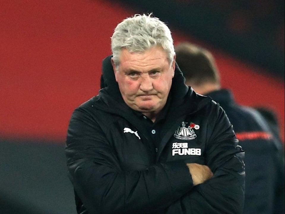 Newcastle manager Steve Bruce (Pool via REUTERS)