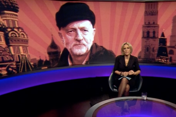Newsnight: The programme's bosses have denied photoshopping the image of Jeremy Corbyn to make him 'look Russian' (BBC/Newsnight)
