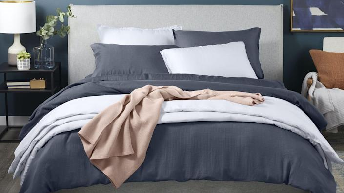 Casper's Hyperlite sheets offer a unique grid-like construction that makes them super breathable and comfortable on even the hottest summer nights.