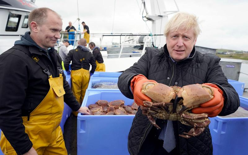 Boris Johnson has insisted Brexit will mean the UK takes back control of its waters - Andrew Parsons/Shutterstock