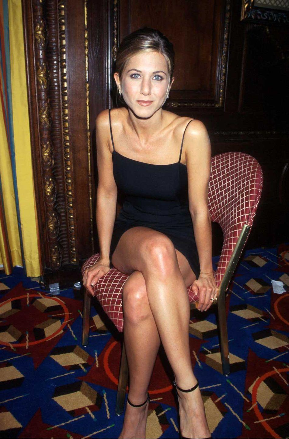 <p>A few seasons into <em>Friends</em>, Jennifer Aniston looks flawless as she poses for the camera in 1997. </p>