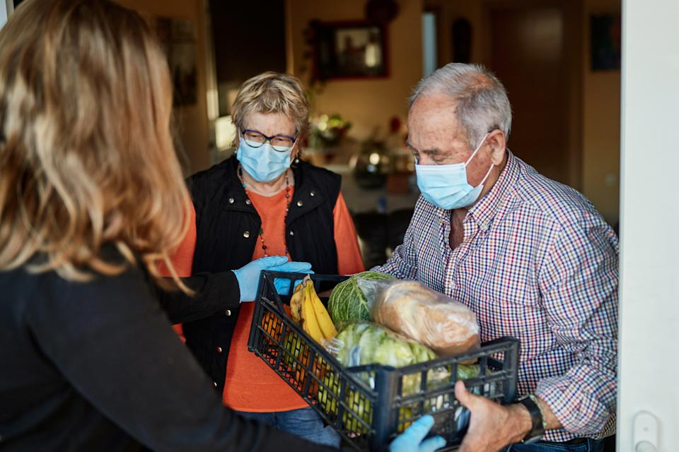 The CDC recommends people make their favorite Thanksgiving dishes for family and find no-contact ways to deliver the meals amid the coronavirus pandemic. (Photo: Getty Images)