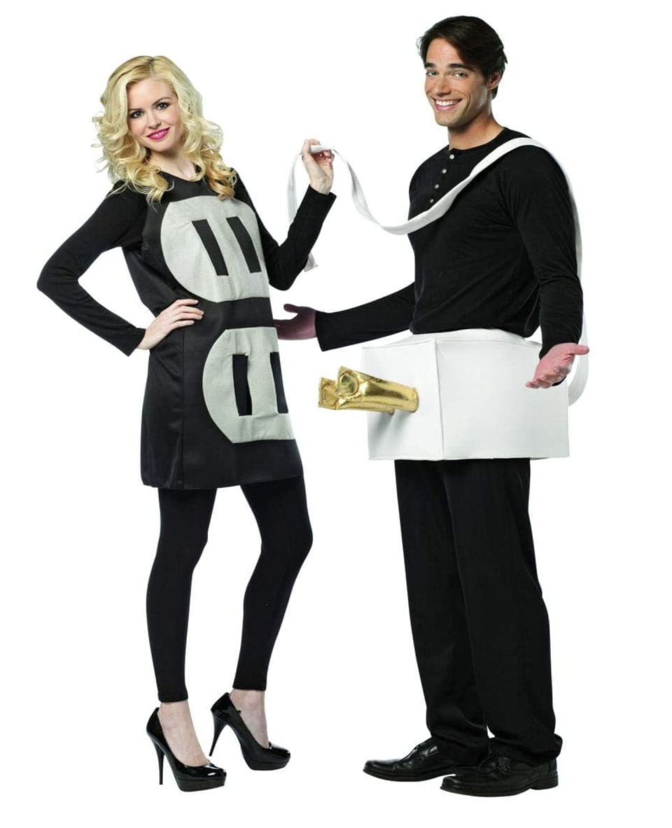 black and white Plug and Socket Couples halloween Costume