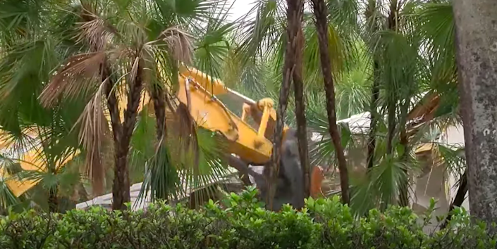 <p>Demolition crews have begun pulling down the South Florida mansion once owned by the convicted sex offender</p> (WPTV News - FL Palm Beaches and Treasure Coast)