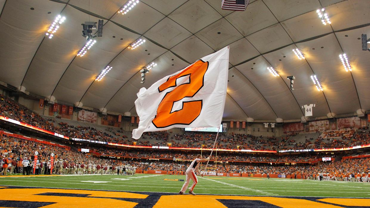 File photo: A view of the interior of the Carrier Dome before an NCAA college football game in November 2016.