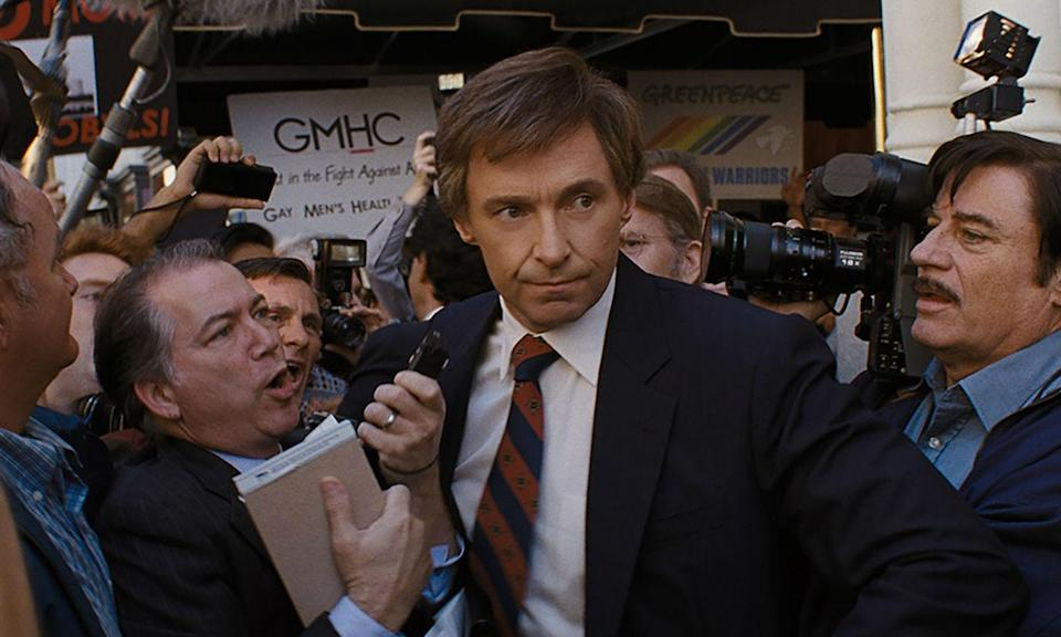 <p>Hugh Jackman stars in this political drama based on the true story of Gary Hart's failed attempt to win the Democratic presidential nomination in 1987 despite mass popularity. </p>