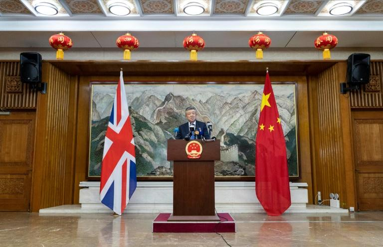 China's ambassador to Britain Liu Xiaoming warned Beijing would not 'sit on our hands and watch' if the situation in Hong Kong spiralled out of control (AFP Photo/Niklas HALLE'N)