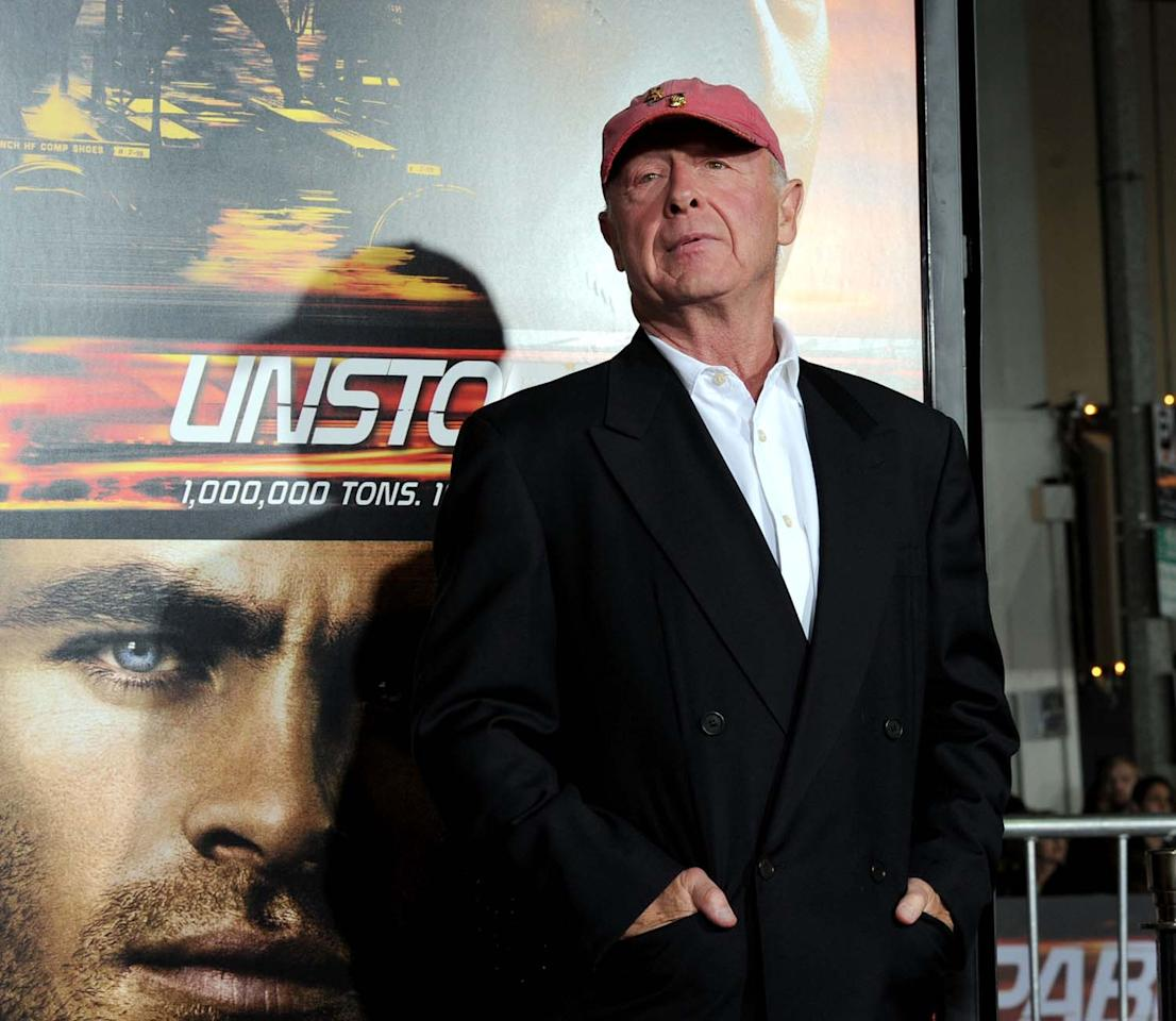 "WESTWOOD, CA - OCTOBER 26:  Director Tony Scott arrives at the premiere of Twentieth Century Fox's ""Unstoppable"" at Regency Village Theater on October 26, 2010 in Westwood, California.  (Photo by Kevin Winter/Getty Images)"