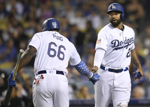 The Los Angeles Dodgers have traded Yasiel Puig, Matt Kemp and Alex Wood to the Cincinnati Reds. (Getty Images)