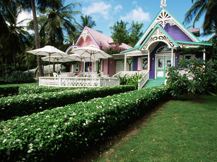 gingerbread houses Mustique
