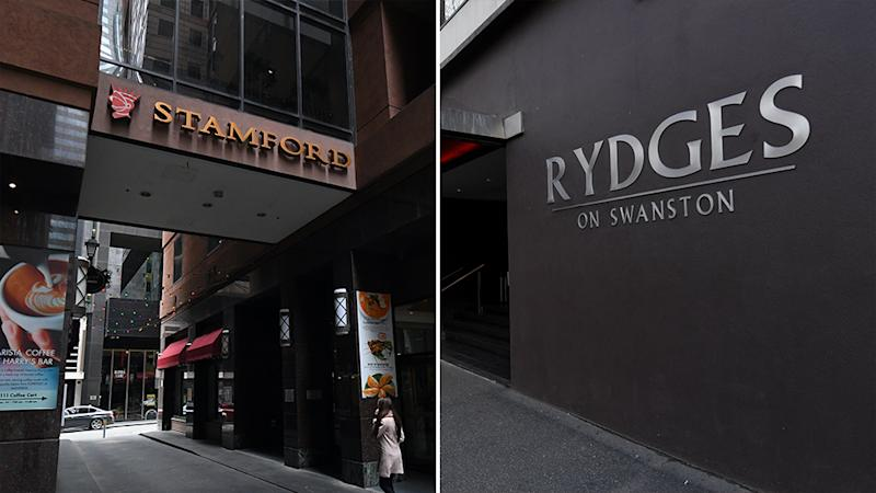 Pictured left is Stamford Plaza. Right is Rydges on Swanston.