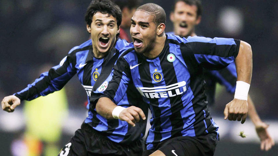 Adriano, pictured here in action for Inter Milan in 2005.