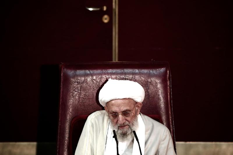 Ayatollah Mohammad Reza Mahdavi Kani attends a session of the Assembly of Experts -- the body that selects the supreme leader and supervises his activities -- in Tehran, on September 3, 2013