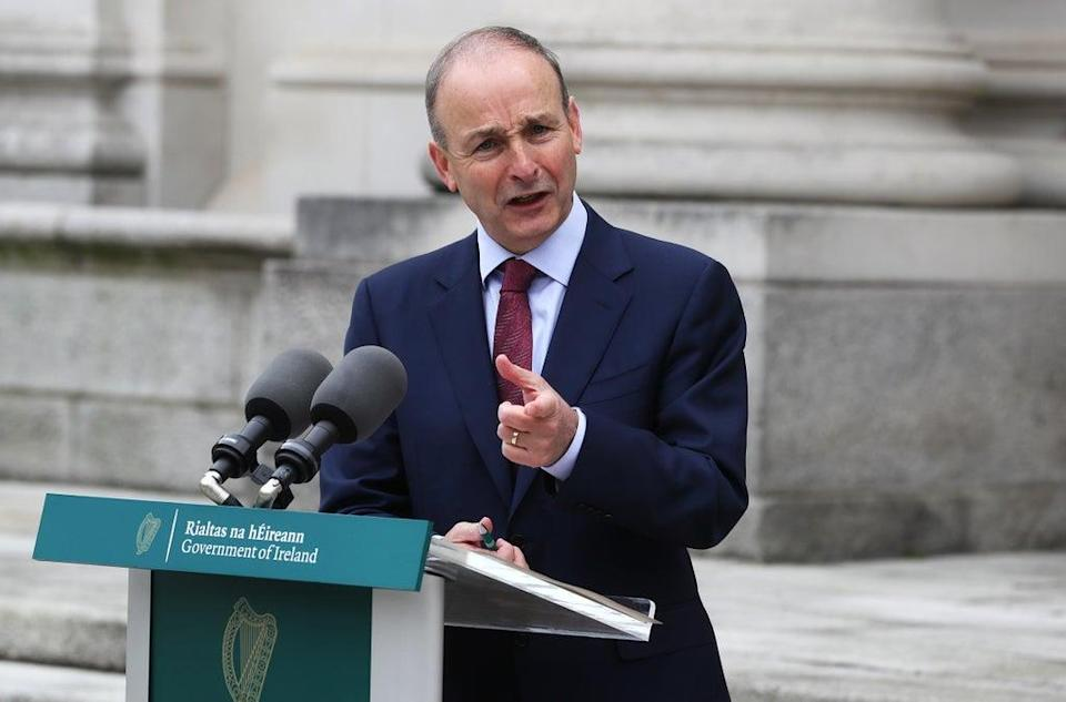 Taoiseach Micheal Martin paid tribute to European Commission vice-president Maros Sefcovic for how he and the European Commission has handled post-Brexit issues (PA) (PA Wire)