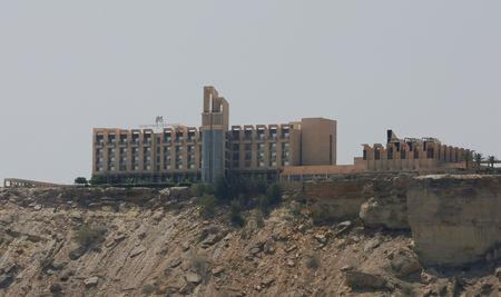 A general view of the Pearl Continental (PC) hotel in Gwadar,