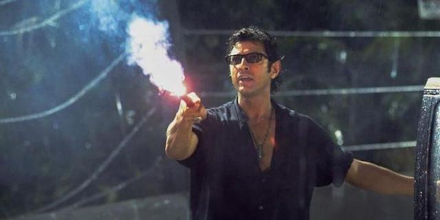 Jeff Goldblum as Ian Malcolm in <i>Jurassic Park</i> (Photo: Universal)