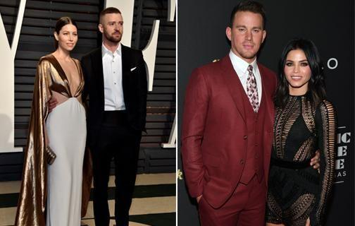 Jenna is now married to Channing Tatum and Justin is married to Jessica Biel. Source: Getty