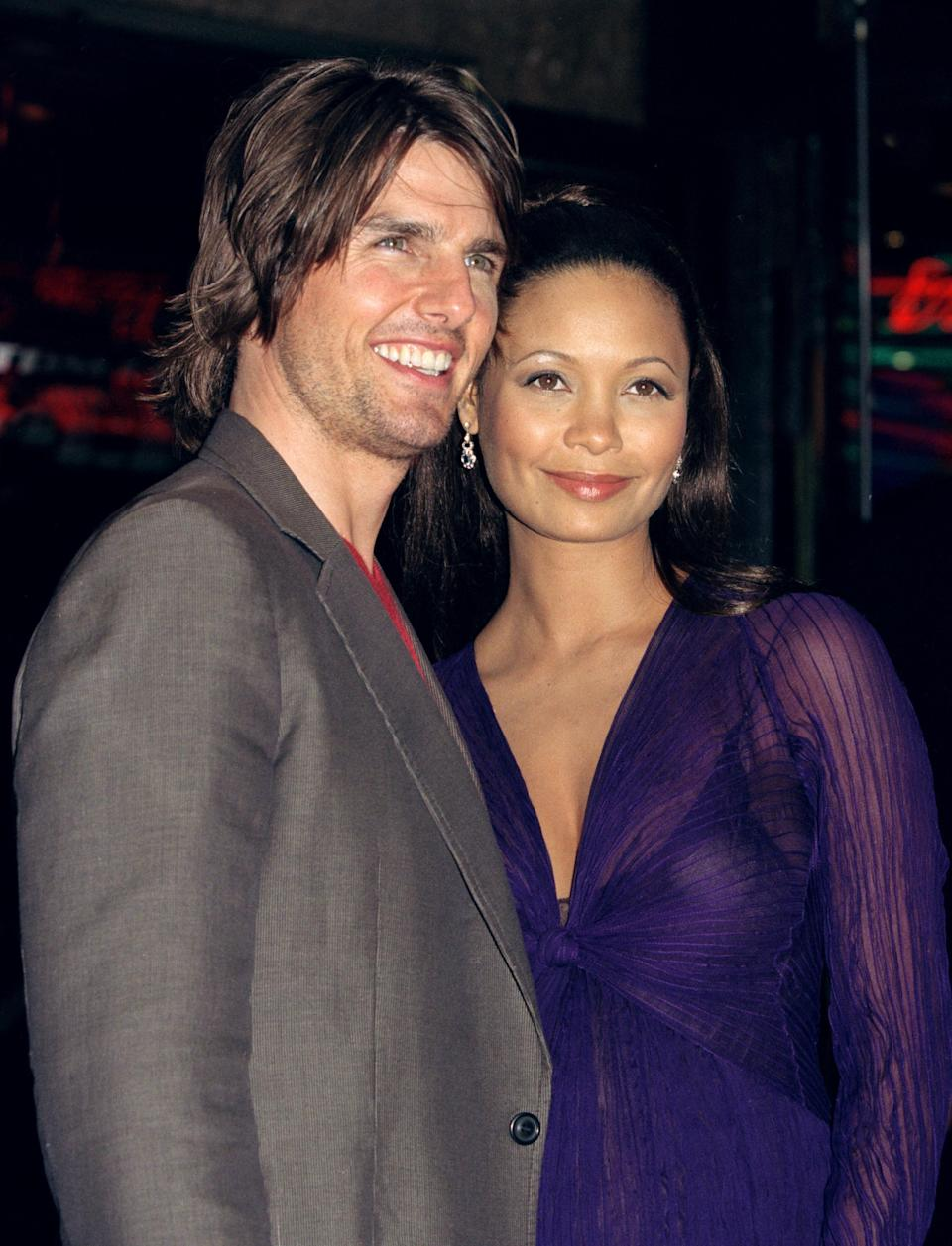 Tom Cruise & Thandie Newton Attend The 'Mission:Impossible-2' Premiere In London'S West End. (Photo by Antony Jones/UK Press via Getty Images)