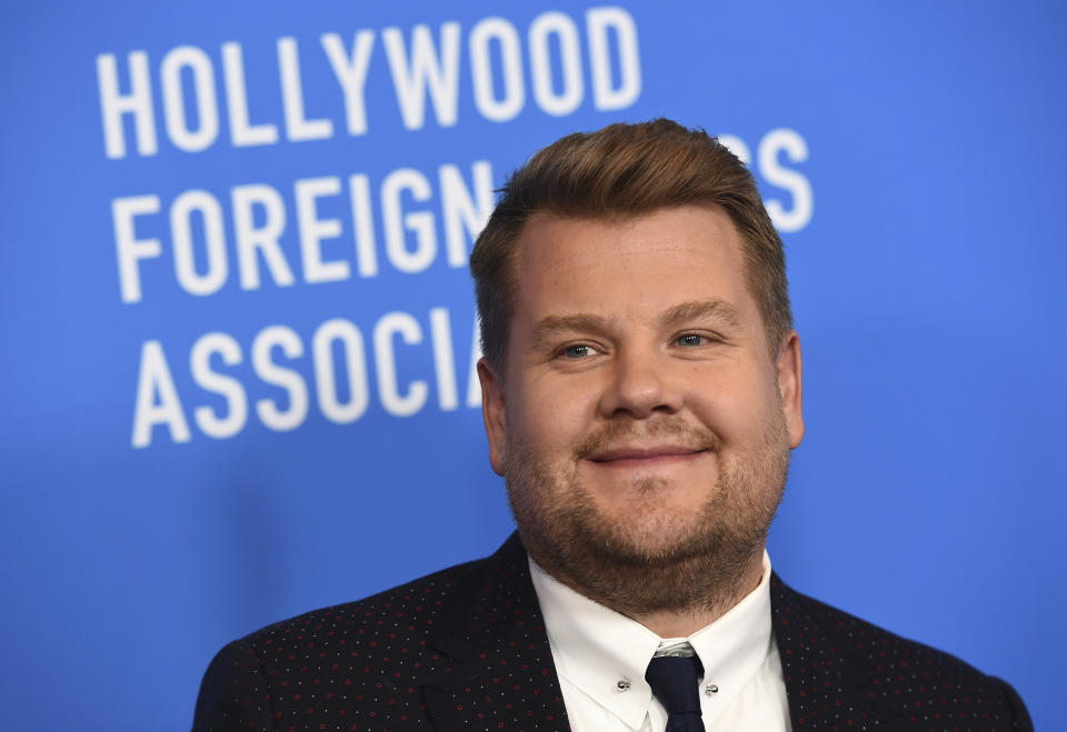 James Corden arrives at the 2019 Hollywood Foreign Press Association's Annual Grants Banquet at the Beverly Wilshire Beverly Hills on Wednesday, July 31, 2019.