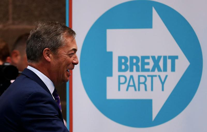 Nigel Farage's Brexit Party are riding high in the polls (Getty)