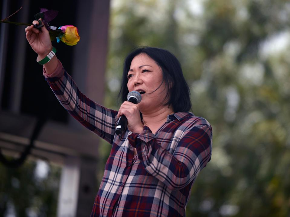 <p>La comediante habló con <em>The Guardian</em> para marcar el lanzamiento de la segunda temporada de su podcast, <em>The Margaret Cho</em>.</p> (Chelsea Guglielmino/Getty Images)