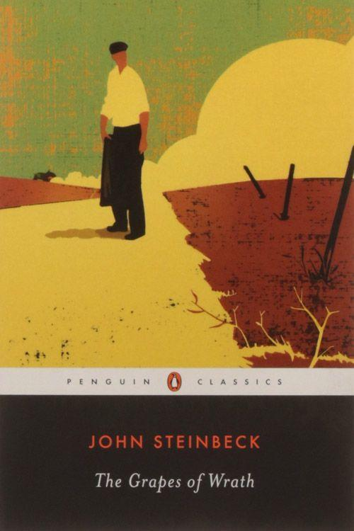 """<p><strong><em>The Grapes of Wrath</em> by John Steinbeck</strong></p><p><span class=""""redactor-invisible-space"""">$12.29 <a class=""""link rapid-noclick-resp"""" href=""""https://www.amazon.com/Grapes-Wrath-John-Steinbeck/dp/0143039431/ref=sr_1_1_twi_pap_2?tag=syn-yahoo-20&ascsubtag=%5Bartid%7C10063.g.34149860%5Bsrc%7Cyahoo-us"""" rel=""""nofollow noopener"""" target=""""_blank"""" data-ylk=""""slk:BUY NOW"""">BUY NOW</a> </span></p><p><span class=""""redactor-invisible-space"""">John Steinbeck's Pulitzer Prize-winning novel about the Oklahoma farm family, the Joads, takes place in the 1930s during the Dust Bowl migration. <em>The Grapes of Wrath</em> touches on the horrors of the Great Depression, as the Joads and other Oklahoma farmers head west in the hopes of jobs and a future. <br></span></p>"""
