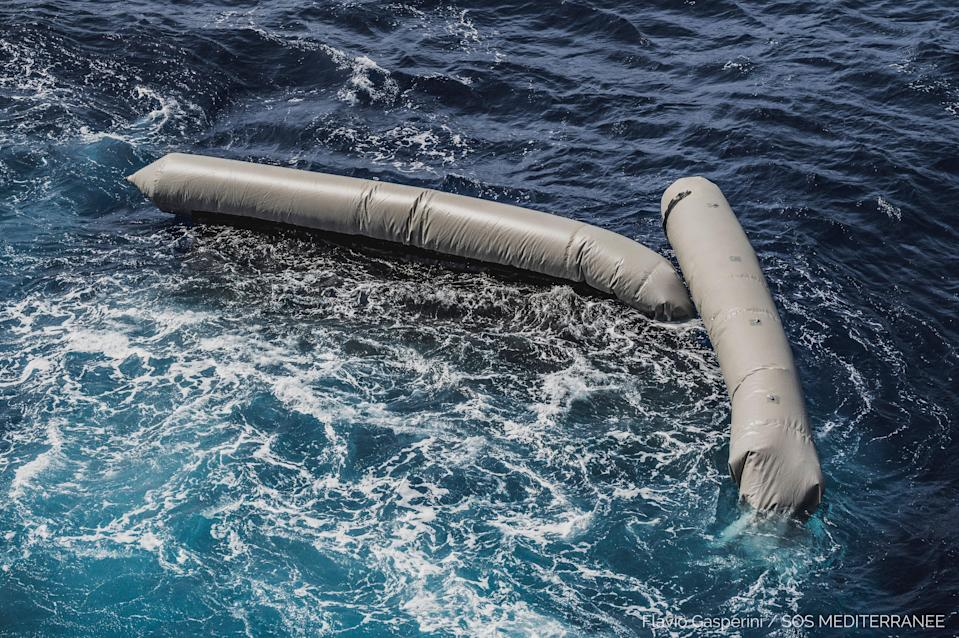 <p>This shipwreck is the latest on the central Mediterranean migration route</p> (SOS Mediterranee via AP)