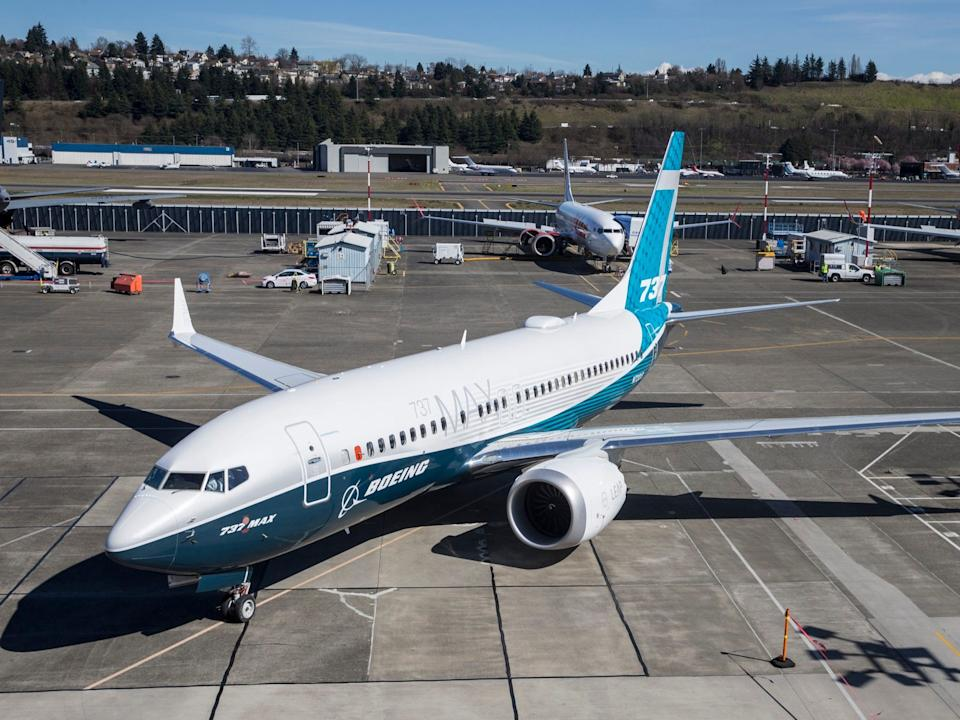 A Boeing 737 Max 7.