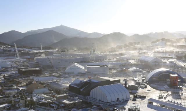 Pyeongchang Olympic Stadium will host the 2018 Winter Olympics Opening Ceremony on Friday. The event is projected to be one of the coldest in Winter Olympic history. (AP)