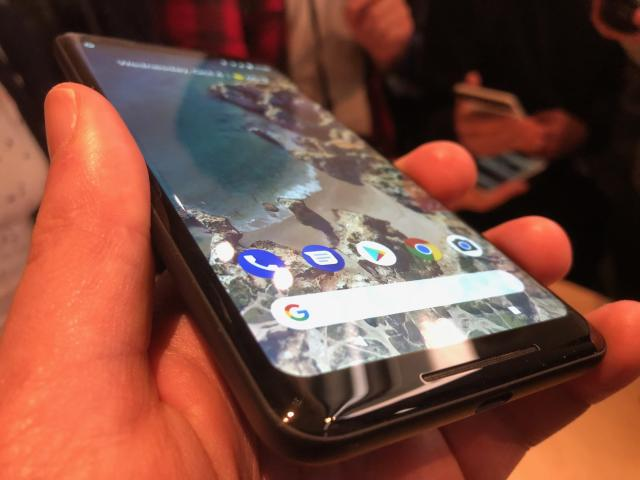 The Pixel 2 XL has a rounded, edge-to-edge display that's absolutely stunning.