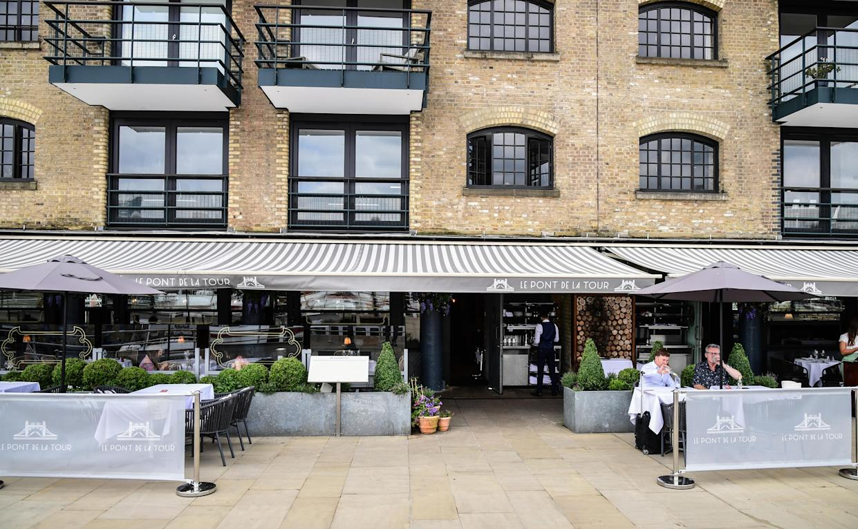 Embargoed to 0001 Tuesday July 20 File photo dated 14/7/2021 of the Le Pont de la Tour restaurant, London. Bill Clinton turned down tea at the Palace with the Queen in 1997 and told aides he wanted