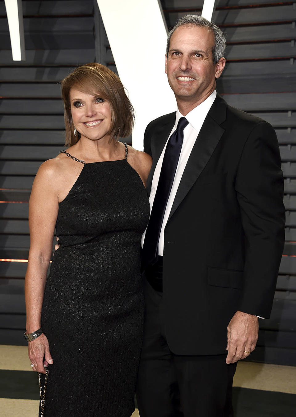 <p>Katie Couric, left, and John Molner arrive at the Vanity Fair Oscar Party on Sunday, Feb. 26, 2017, in Beverly Hills, Calif. (Photo by Evan Agostini/Invision/AP) </p>