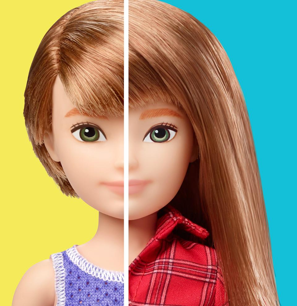 The dolls can be styled with short or long hair [Photo: Mattel]