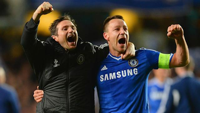 John Terry has been tipped to join Derby County but new manager Frank Lampard says no such discussions have been held.
