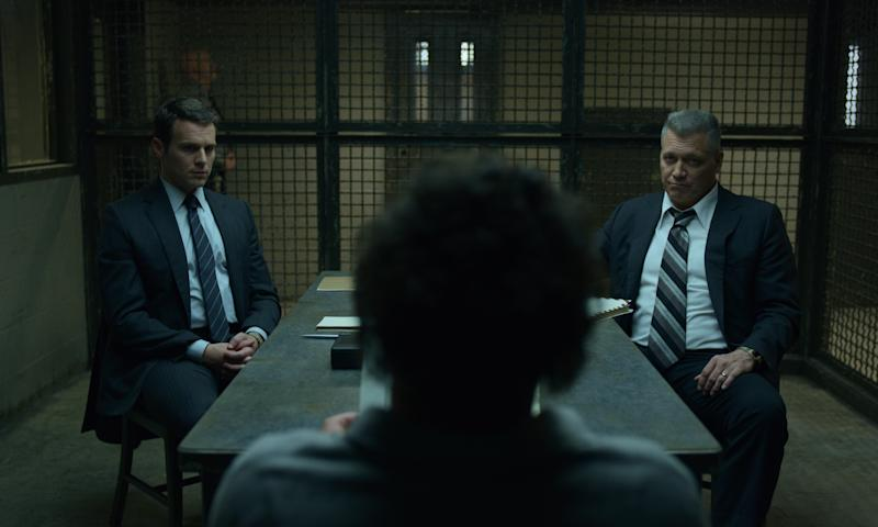 Holt McCallany and Jonathan Groff grill another serial killer in <i>MINDHUNTER</i> S2. (Netflix)